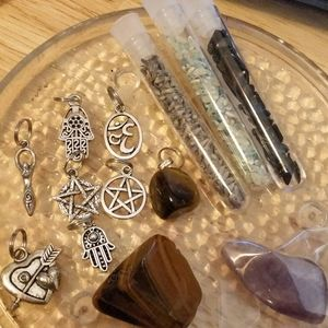 Crystal +charms+Herbs  Mystery box wicca